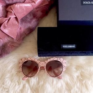 Dolce & Gabbana DNA Oversized Textured Sunglasses